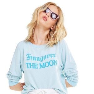 Wildfox Hungover The Moon Baggy Beach Sweater
